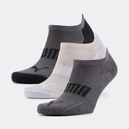 PUMA Unisex Sneaker Socks 3P, black / white, small-SEA