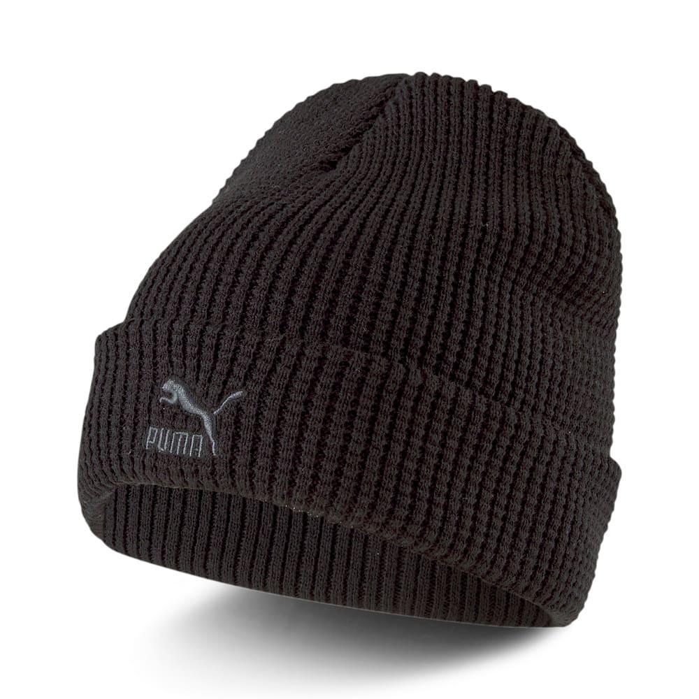 Изображение Puma Шапка ARCHIVE Mid Fit Beanie #1: Puma Black-gray Logo