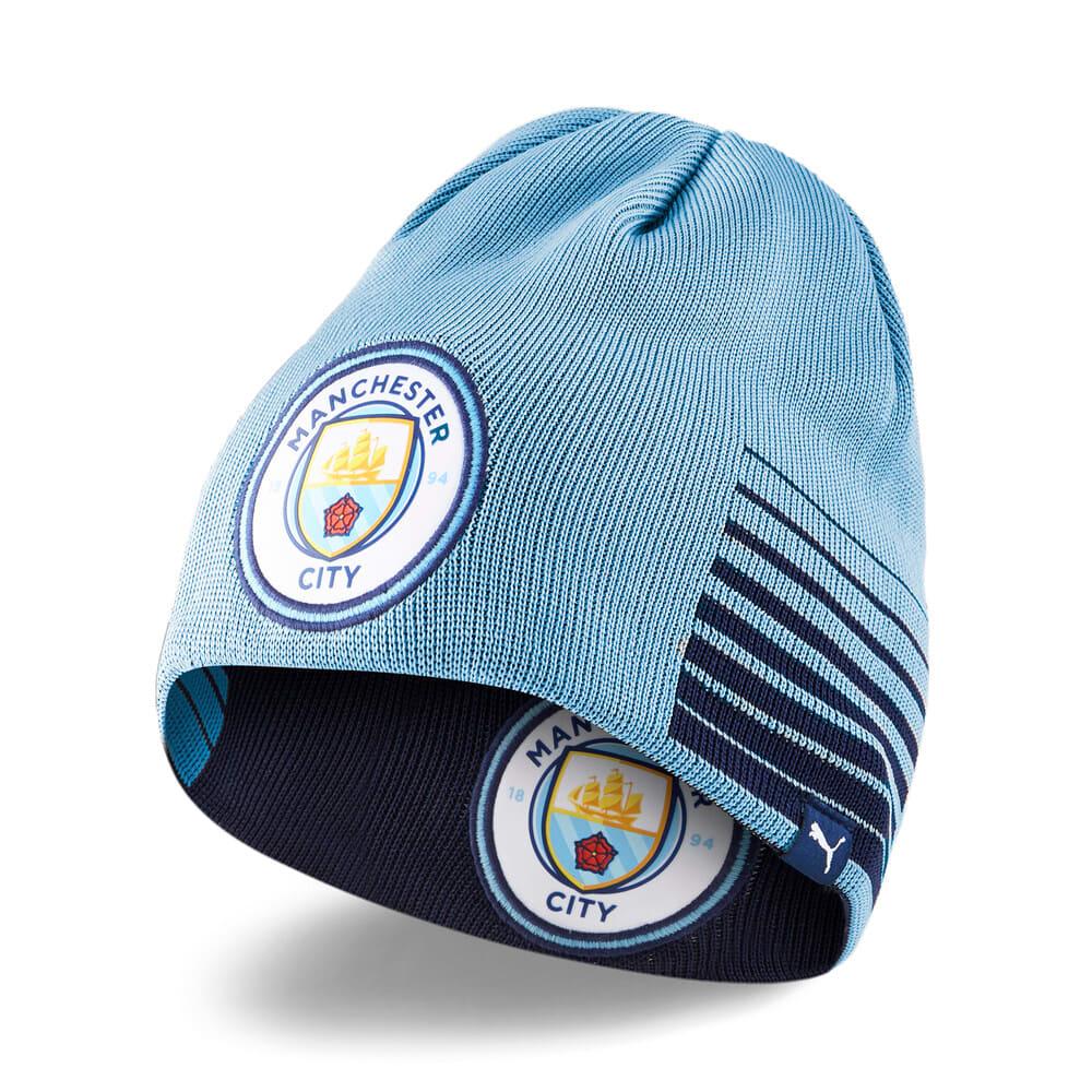 Изображение Puma Шапка Man City Reversible Football Beanie #1: Peacoat-Team Light Blue