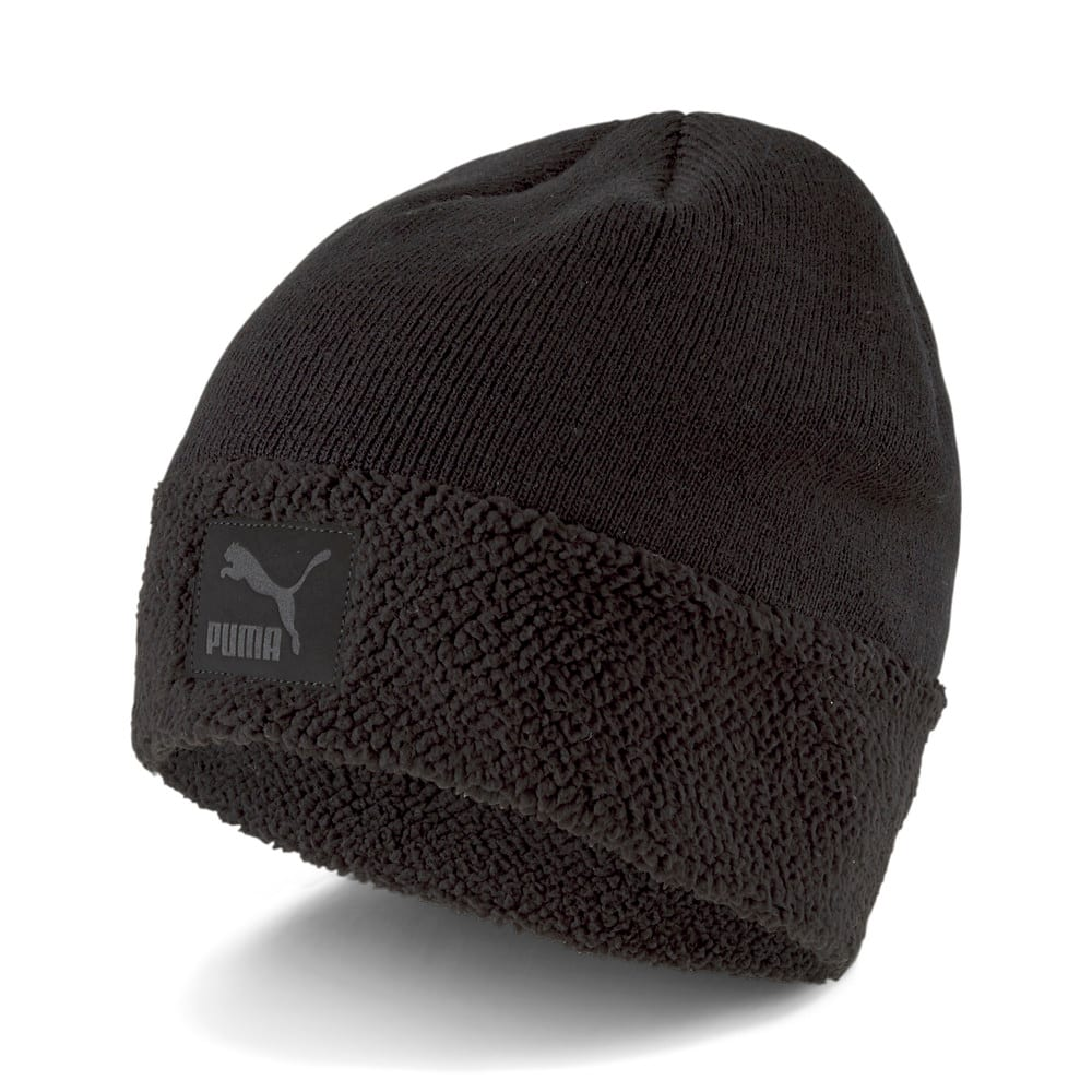 Зображення Puma Шапка Classics Cuff Sherpa Beanie #1: Puma Black