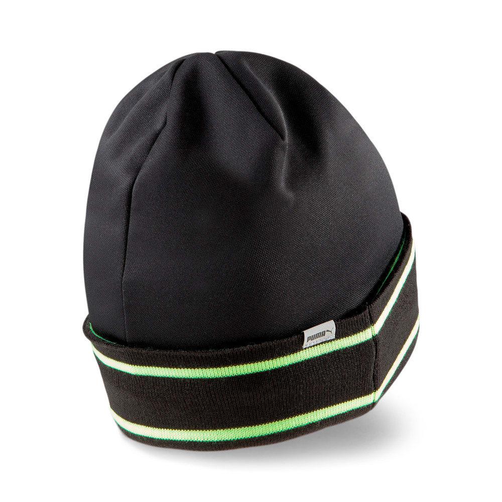 Изображение Puma Шапка Classic Running Cuff Beanie #2: Puma Black-Green Glare