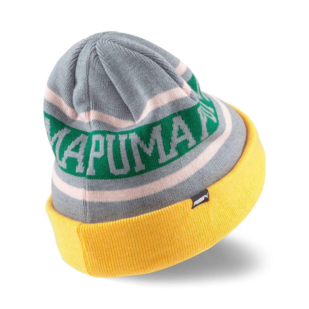 Изображение Puma Шапка Basketball Classic Beanie #2: Quarry-Saffron-Amazon Green