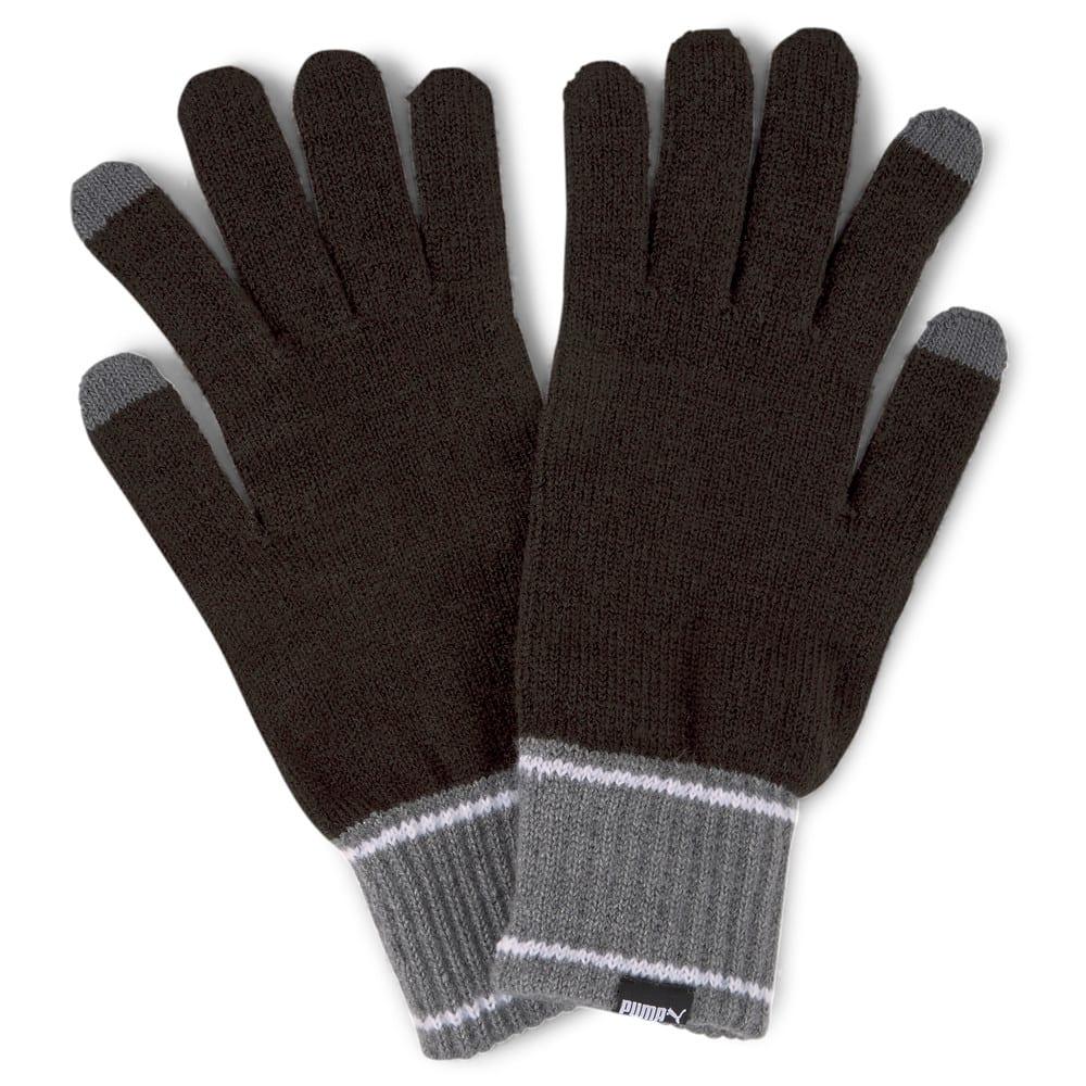 Изображение Puma Перчатки Knitted Gloves #1: Puma Black-Dark Gray Heather
