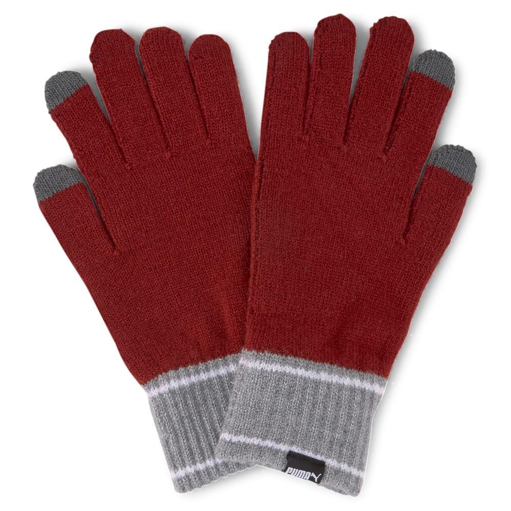 Изображение Puma Перчатки Knitted Gloves #1: Intense Red-Medium Gray Heather