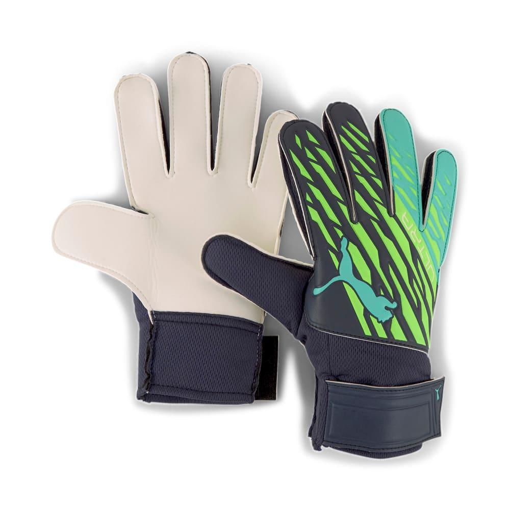 Зображення Puma Воротарські рукавички ULTRA Grip 4 RC Goalkeeper Gloves #1: Green Glare-Elektro Aqua-Puma Black