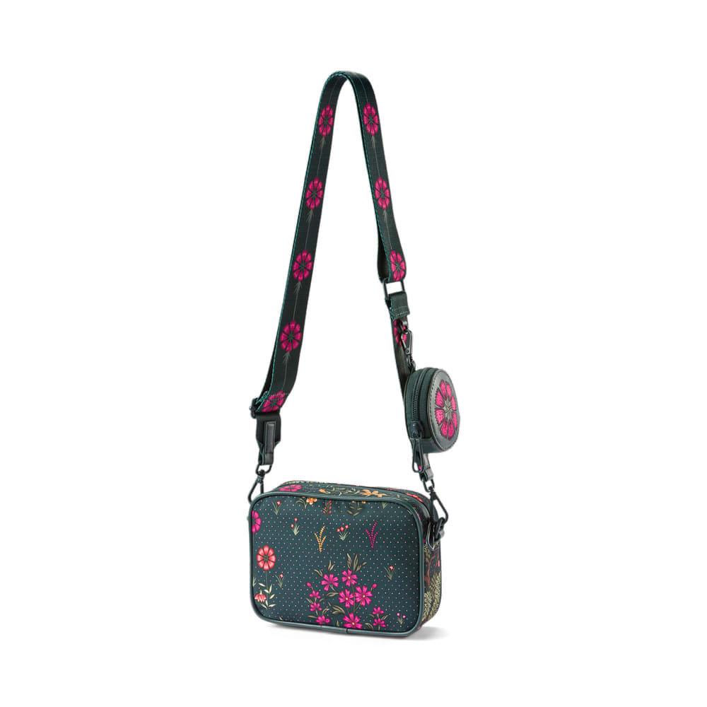 Изображение Puma Сумка PUMA x LIBERTY Mini X-Body Women's Bag #2: Green Gables-AOP