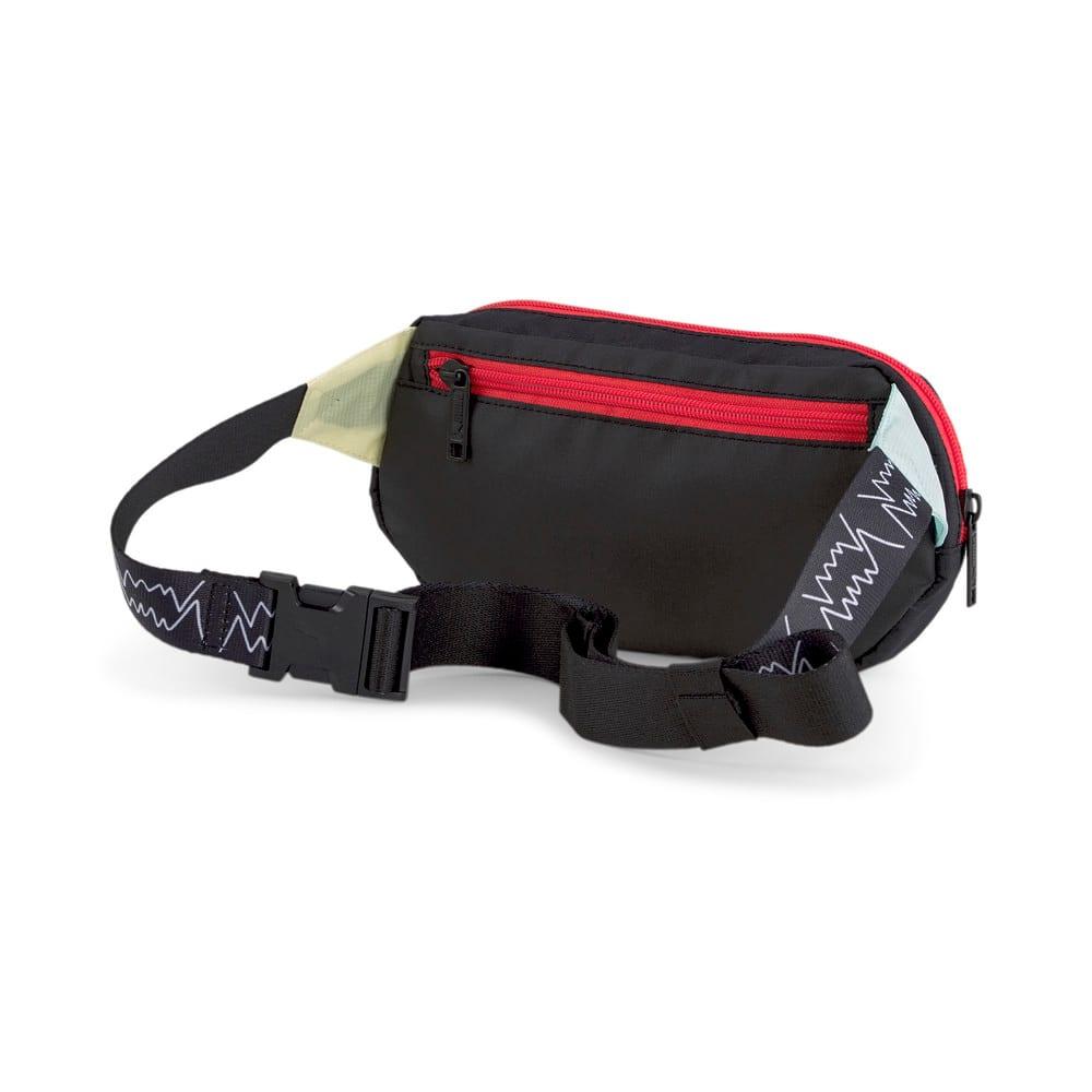 Изображение Puma Сумка на пояс Basketball Waist Bag #2: Puma Black-High Risk Red-Eggshell Blue