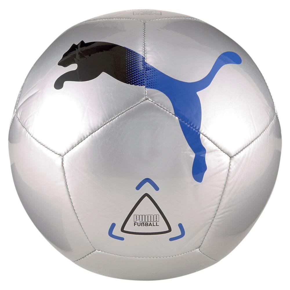 Изображение Puma Мяч Icon Football #1: Metallic Silver-Bluemazing-Puma Black