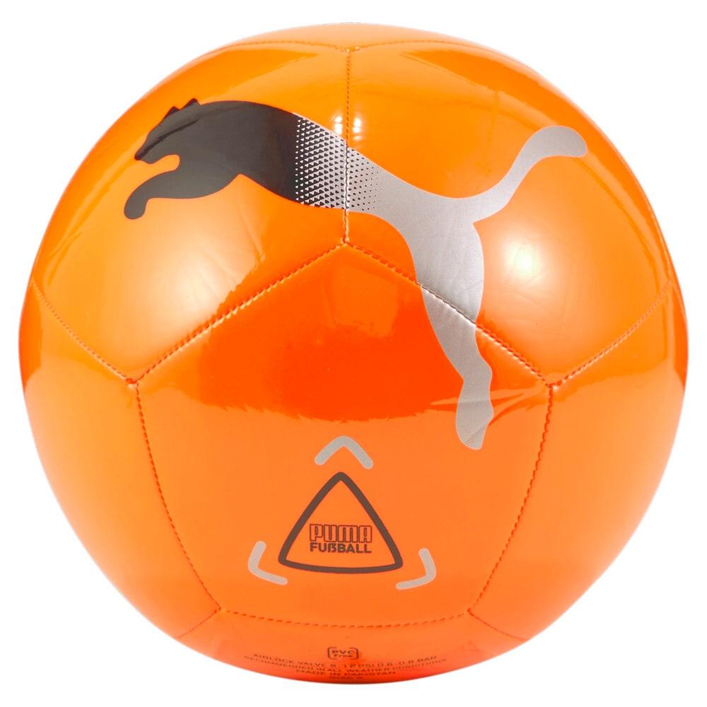 Зображення Puma Футбольний м'яч Icon Football #2: Shocking Orange-Puma Black-Metallic Silver