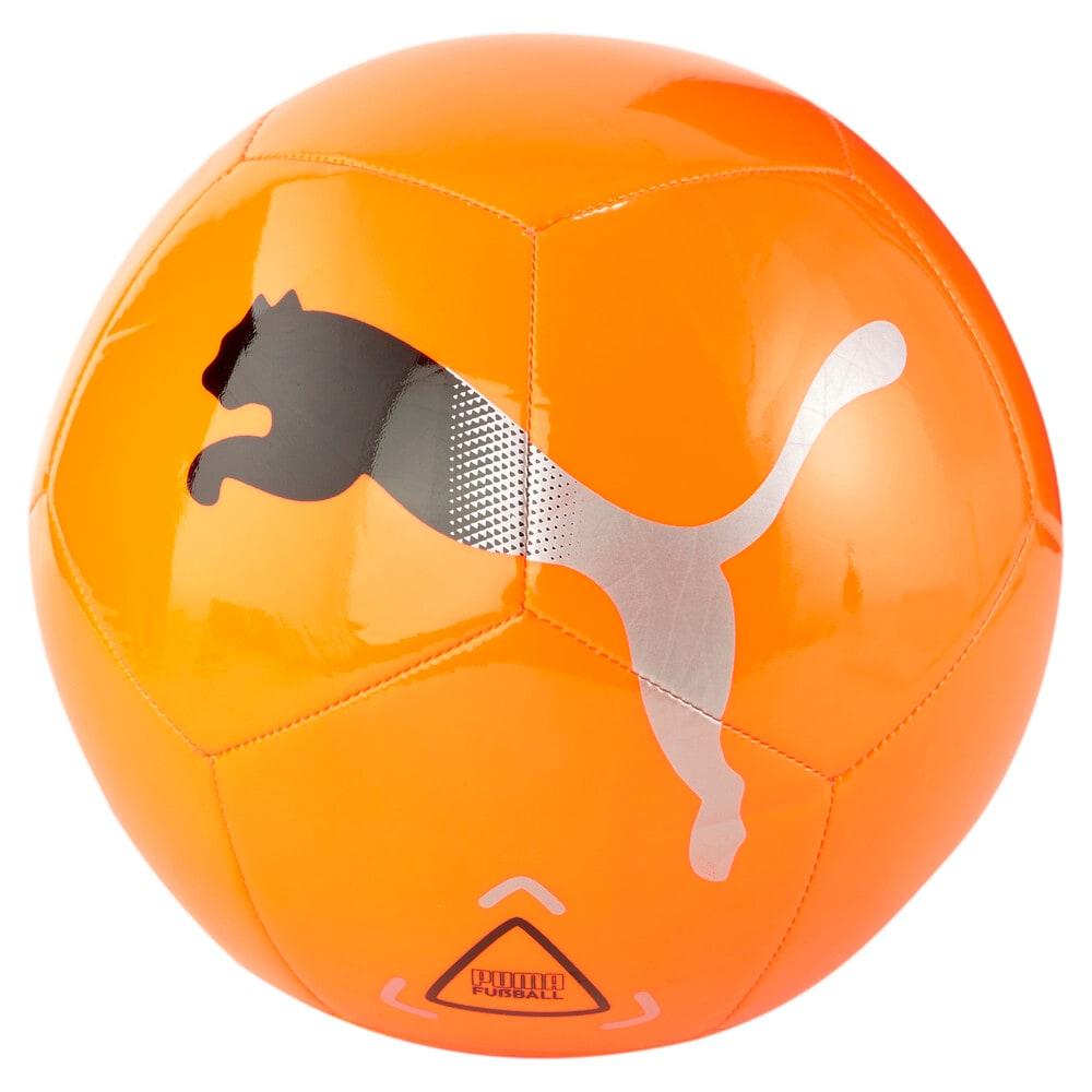 Зображення Puma Футбольний м'яч Icon Football #1: Shocking Orange-Puma Black-Metallic Silver