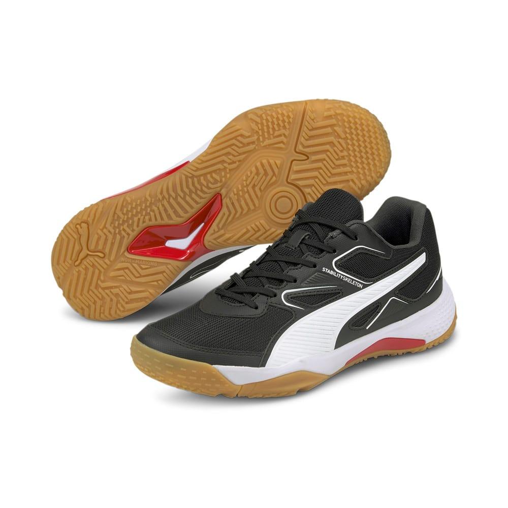 Изображение Puma Кроссовки Solarflash Indoor Sports Shoes #2: Puma Black-Puma White-High Risk Red-Gum