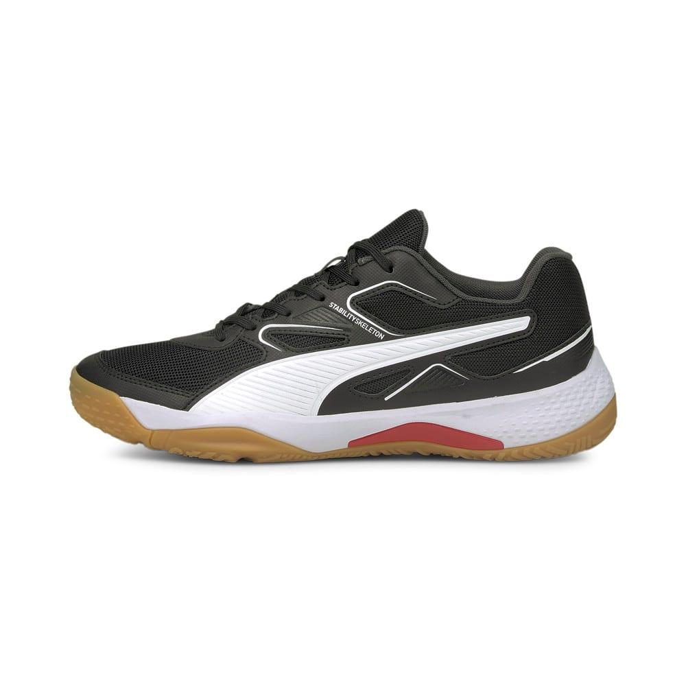Изображение Puma Кроссовки Solarflash Indoor Sports Shoes #1: Puma Black-Puma White-High Risk Red-Gum
