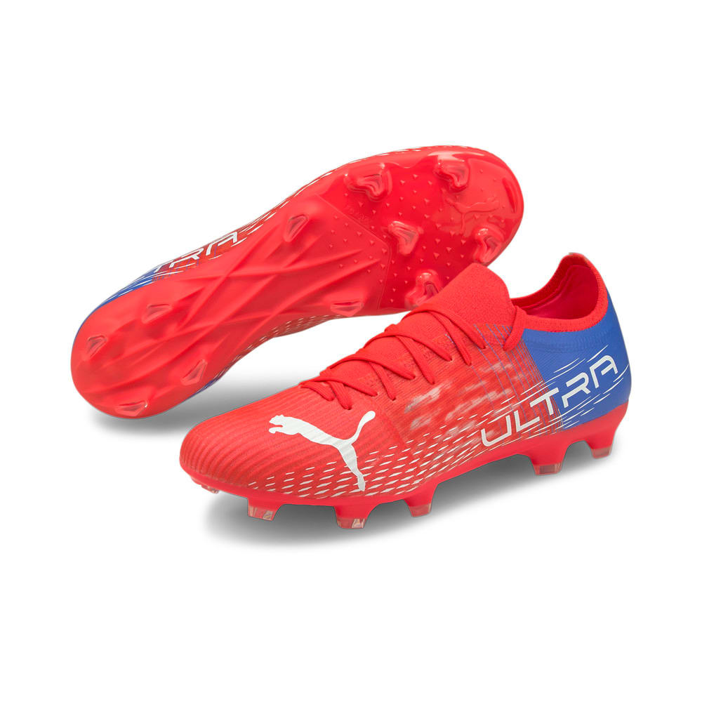 Зображення Puma Бутси ULTRA 3.3.FG/AG Men's Football Boots #2: Sunblaze-Puma White-Bluemazing
