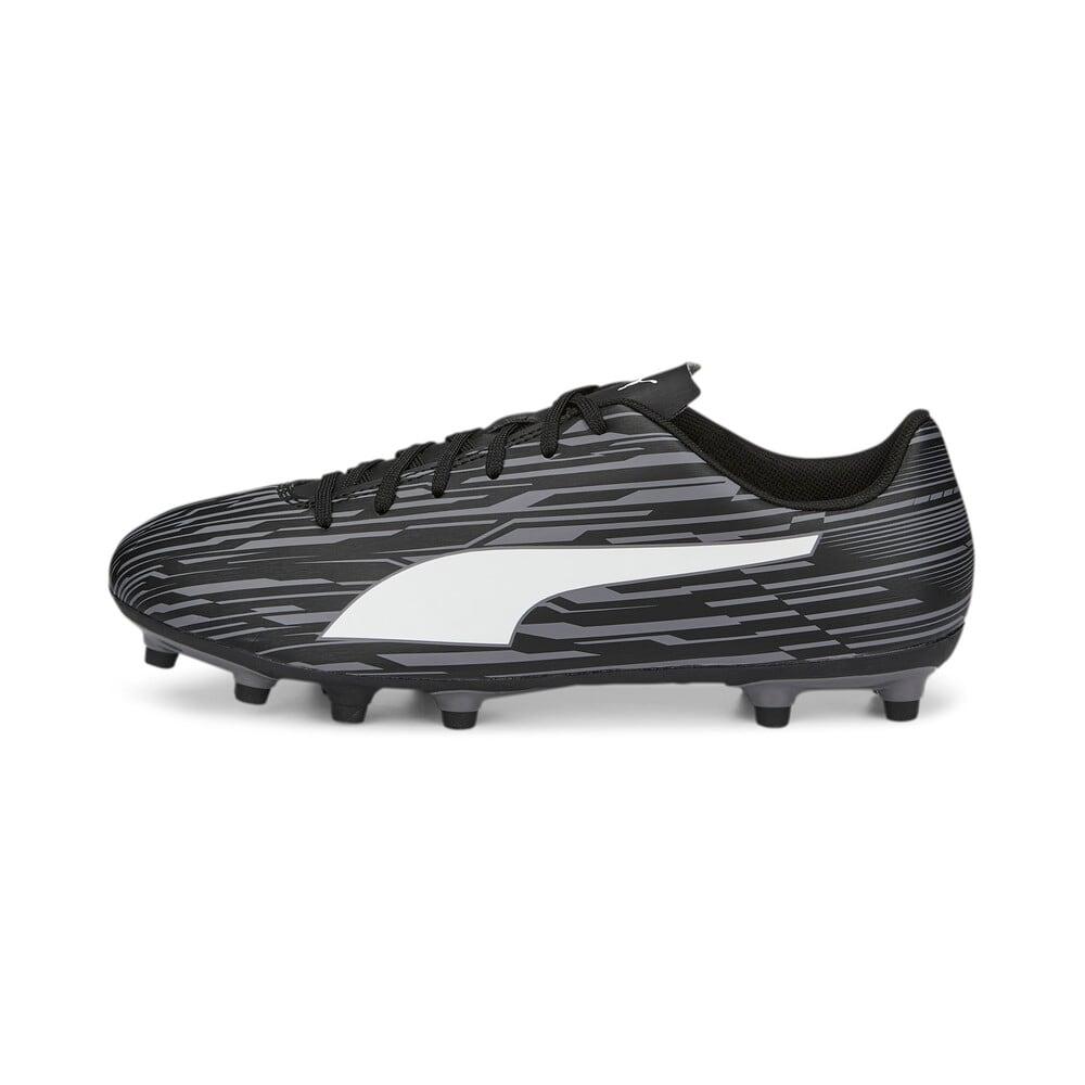 Изображение Puma Бутсы Rapido III FG/AG Men's Football Boots #2: Puma Black-Puma White-CASTLEROCK