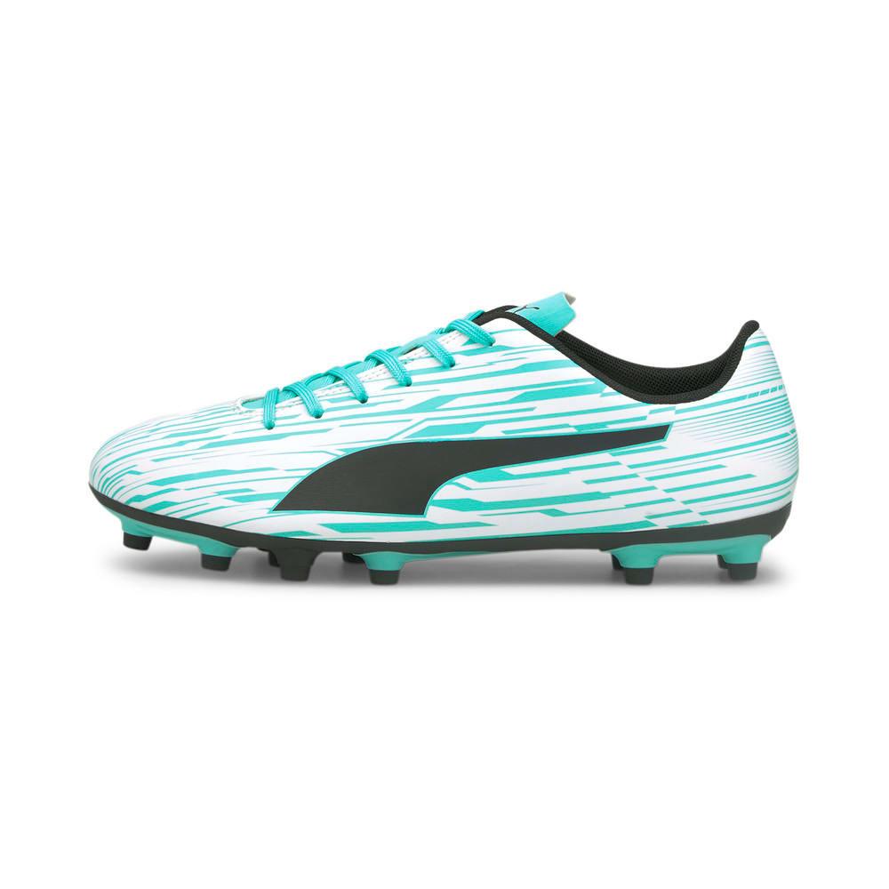 Изображение Puma Бутсы Rapido III FG/AG Men's Football Boots #1: Puma White-Puma Black-Elektro Aqua
