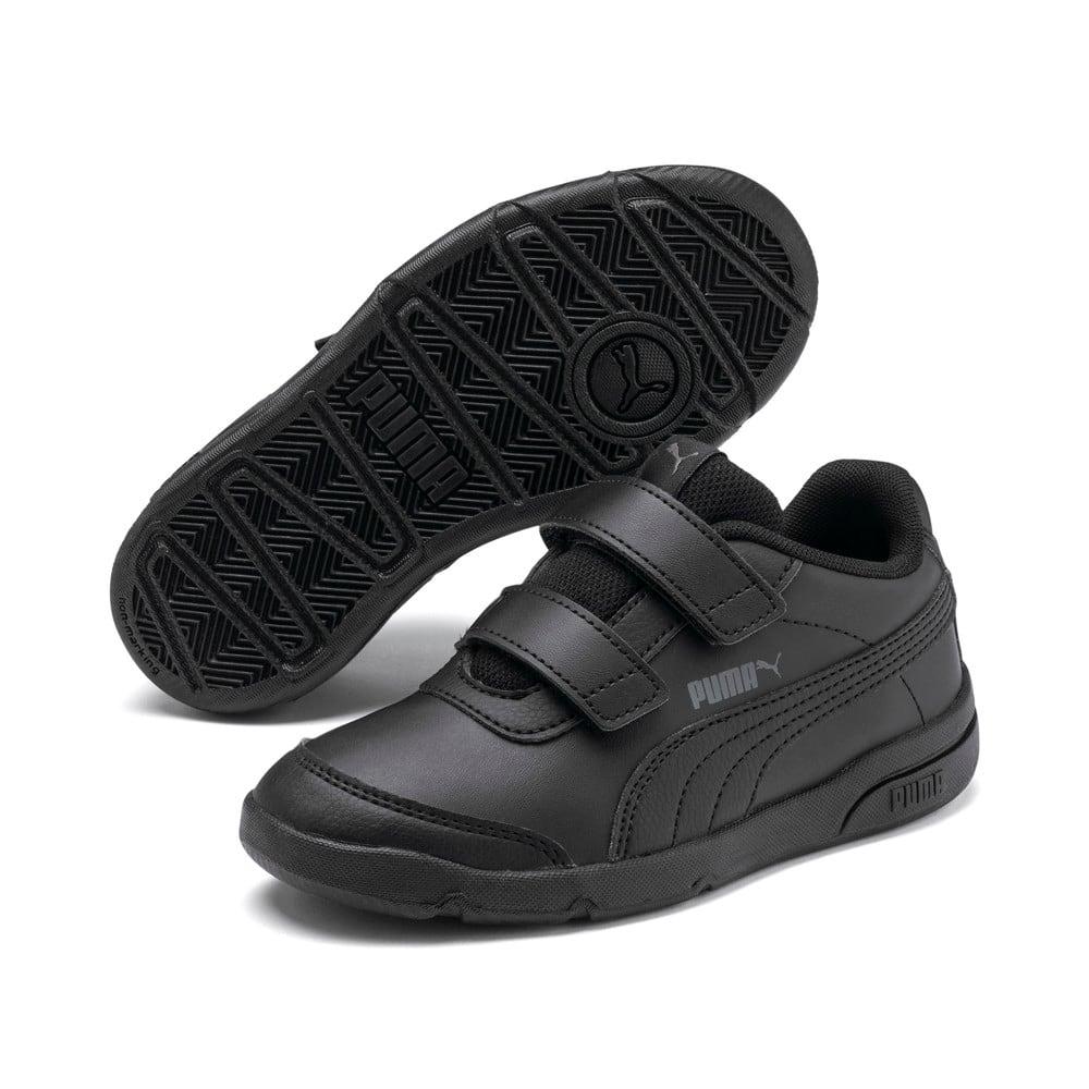 Изображение Puma Детские кроссовки Stepfleex 2 SL VE V PS #2: Puma Black-Puma Black