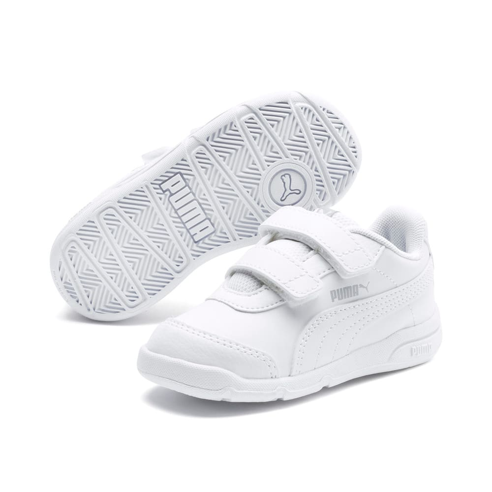 Изображение Puma Детские кроссовки Stepfleex 2 SL VE V Inf #2: Puma White-Puma White