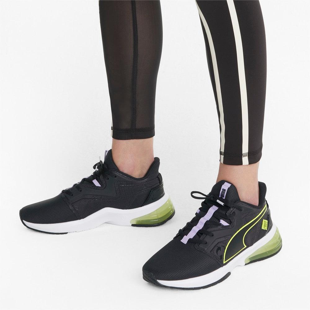Изображение Puma Кроссовки PUMA x FIRST MILE LVL-UP Women's Training Shoes #2: Puma Black-SOFT FLUO YELLOW