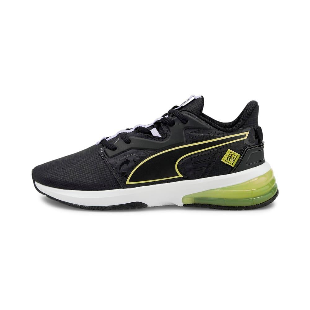 Изображение Puma Кроссовки PUMA x FIRST MILE LVL-UP Women's Training Shoes #1: Puma Black-SOFT FLUO YELLOW