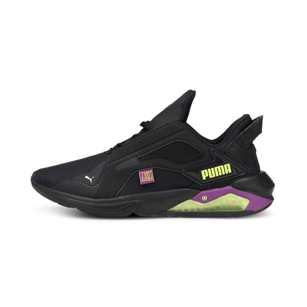 Изображение Puma Кроссовки PUMA x FIRST MILE LQDCELL Method Women's Training Shoes #1: Black-Byzantium-FLUO YELLOW