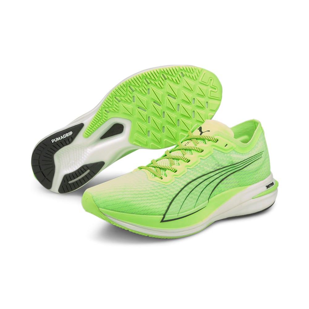 Изображение Puma Кроссовки DEVIATE NITRO Men's Running Shoes #2: Green Glare