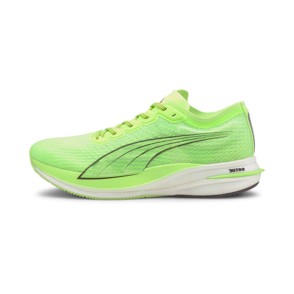 Изображение Puma Кроссовки DEVIATE NITRO Men's Running Shoes #1: Green Glare