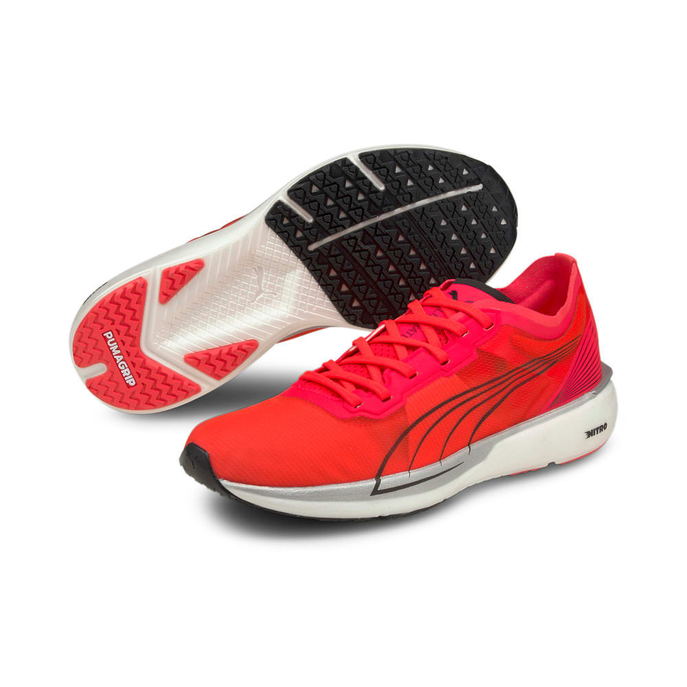 Изображение Puma Кроссовки Liberate Nitro Women's Running Shoes #2: Sunblaze-Puma White