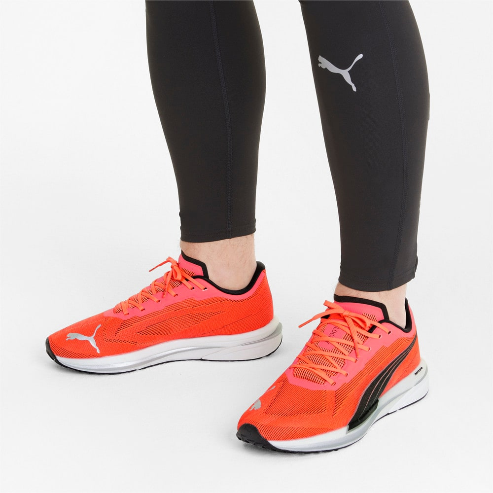 Зображення Puma Кросівки Velocity Nitro Men's Running Shoes #2: Lava Blast-Puma Black-Puma Silver