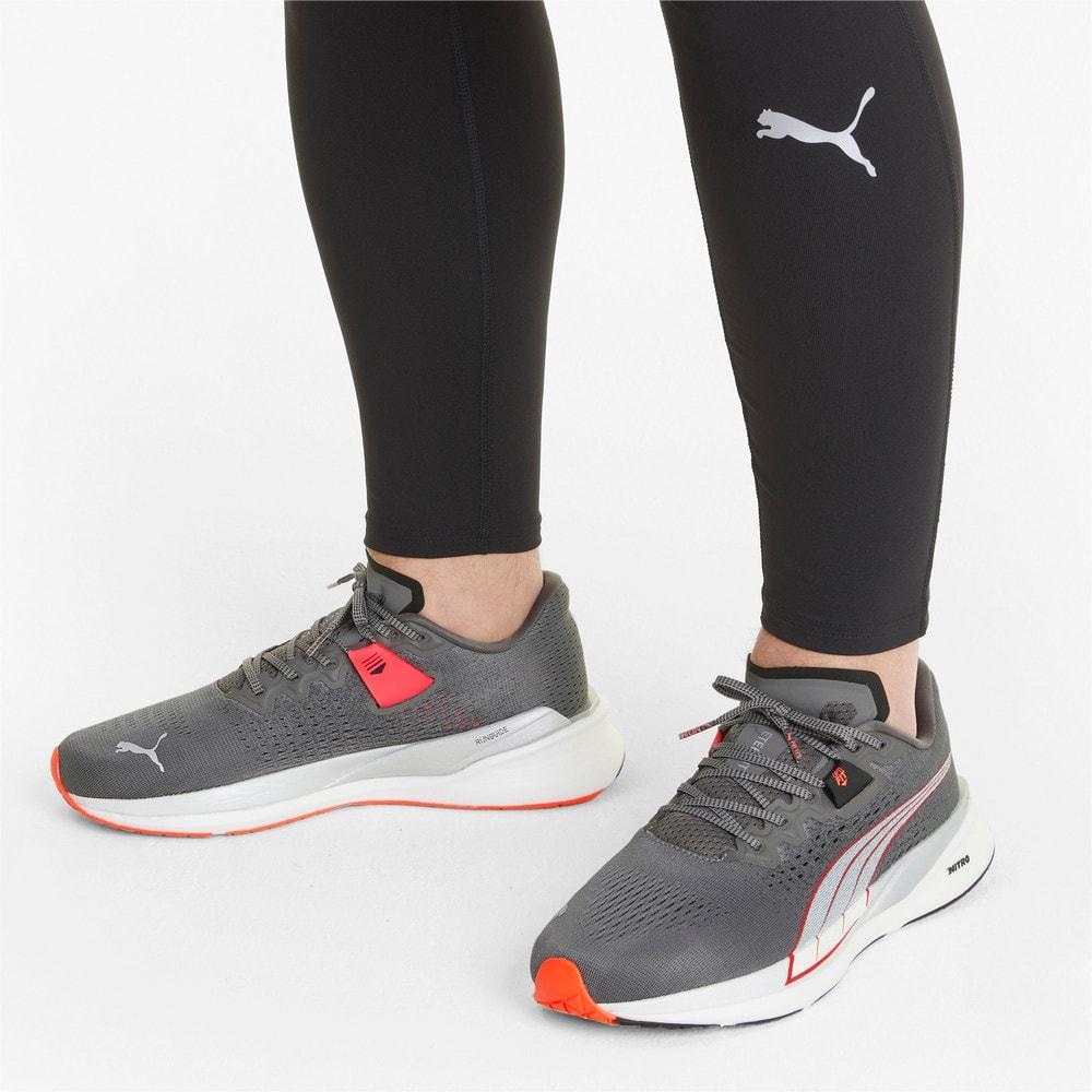 Изображение Puma Кроссовки Eternity Nitro Men's Running Shoes #2: CASTLEROCK-Puma White-Lava Blast