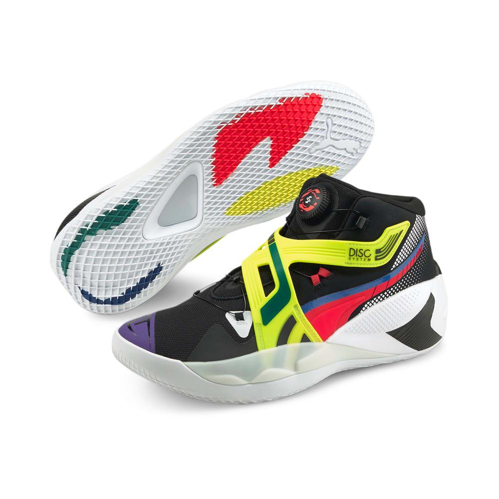 Изображение Puma Кроссовки Disc Rebirth Basketball Shoes #2: Puma Black-Yellow Alert