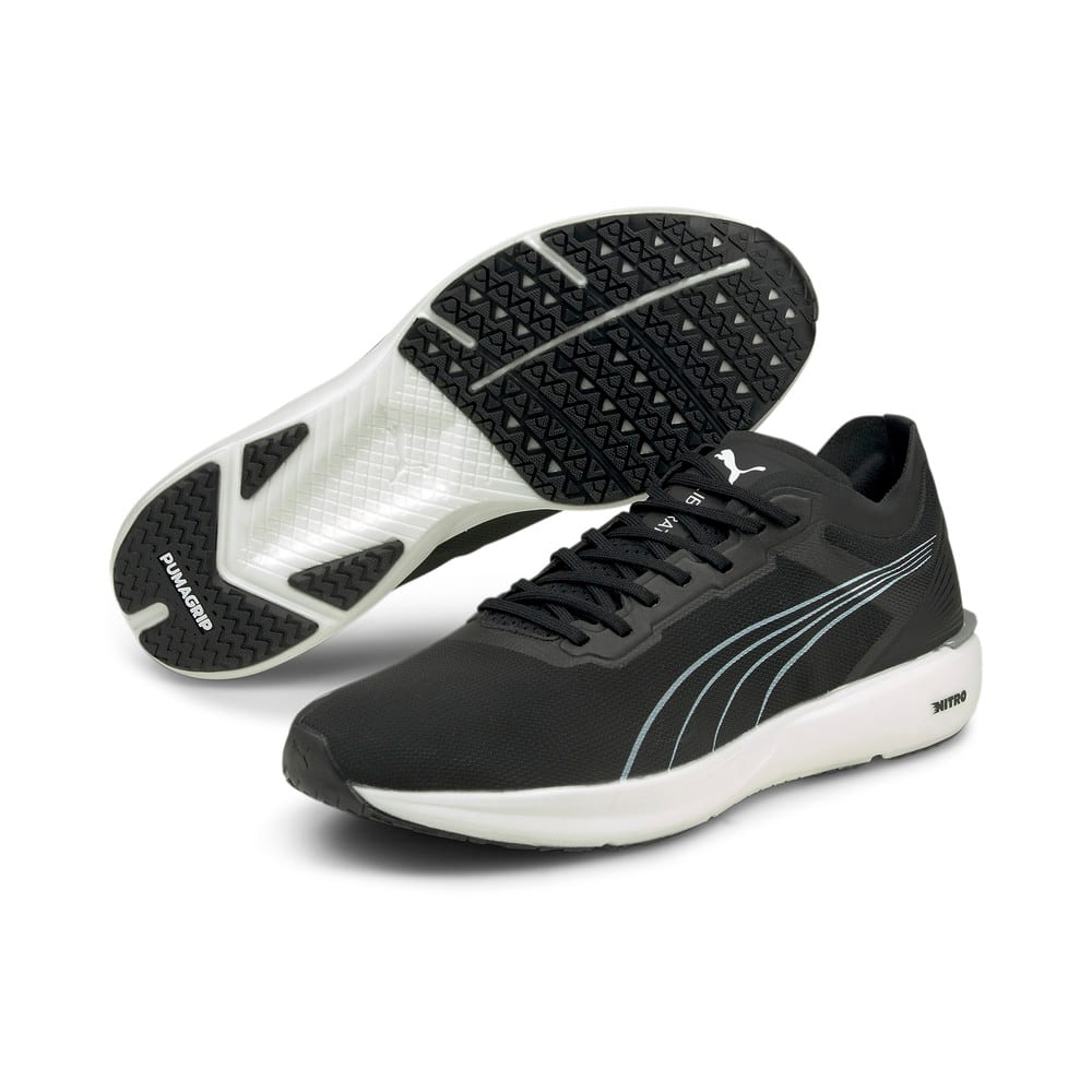 Изображение Puma Кроссовки Liberate Nitro Men's Running Shoes #2: Puma Black-Puma White-Puma Silver