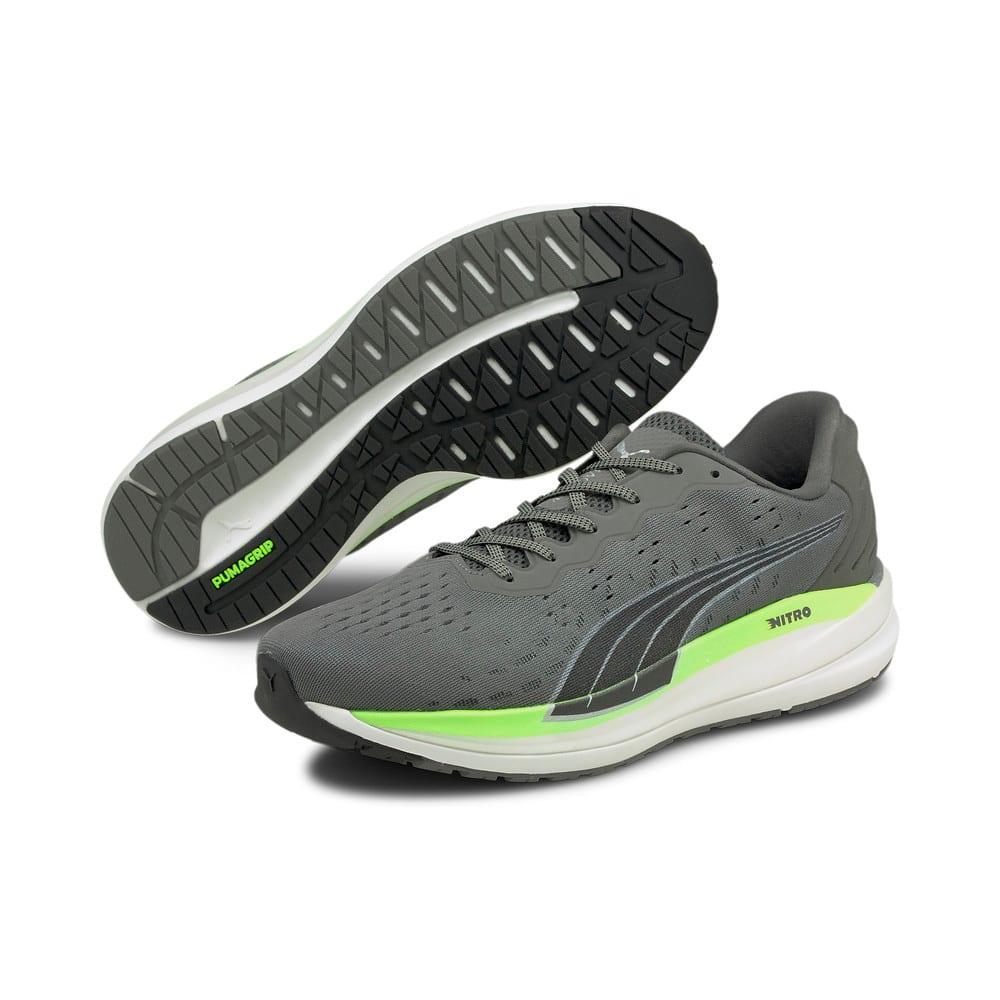 Изображение Puma Кроссовки Magnify Nitro Men's Running Shoes #2: CASTLEROCK-Green Glare