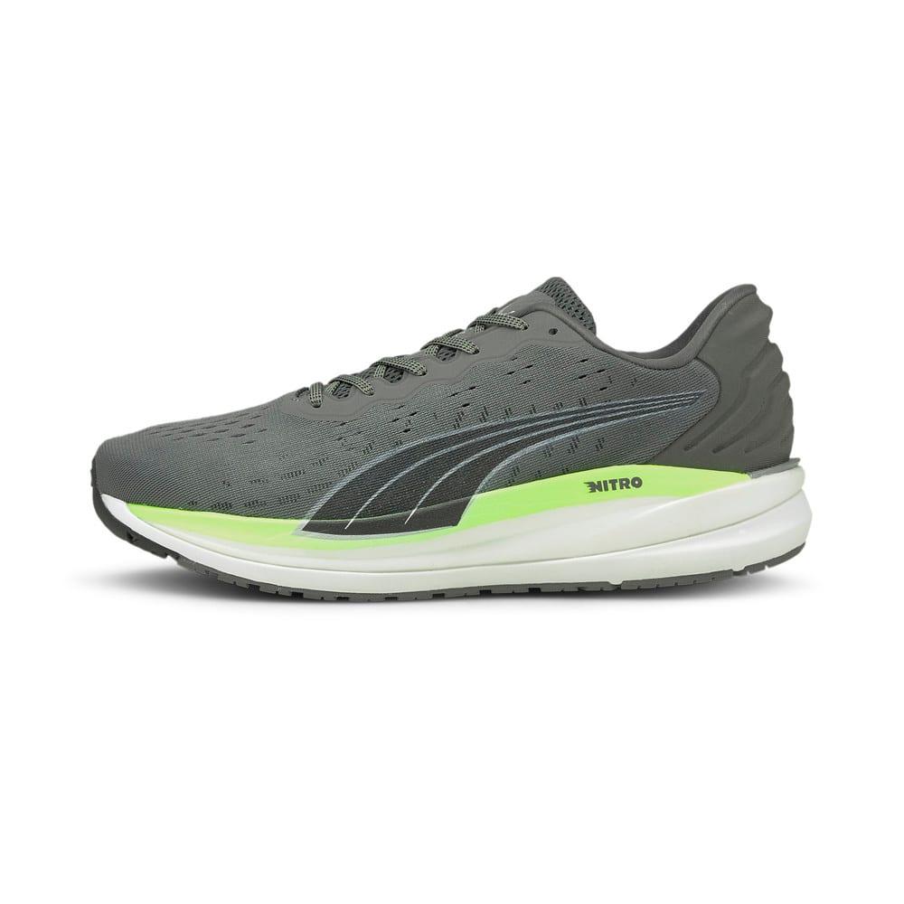Изображение Puma Кроссовки Magnify Nitro Men's Running Shoes #1: CASTLEROCK-Green Glare