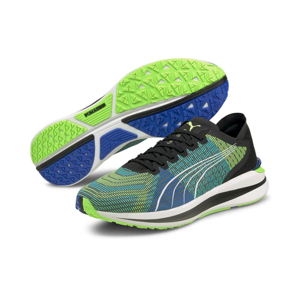 Изображение Puma Кроссовки Electrify Nitro Men's Running Shoes #2: Puma Black-Ultra Blue-Green Glare