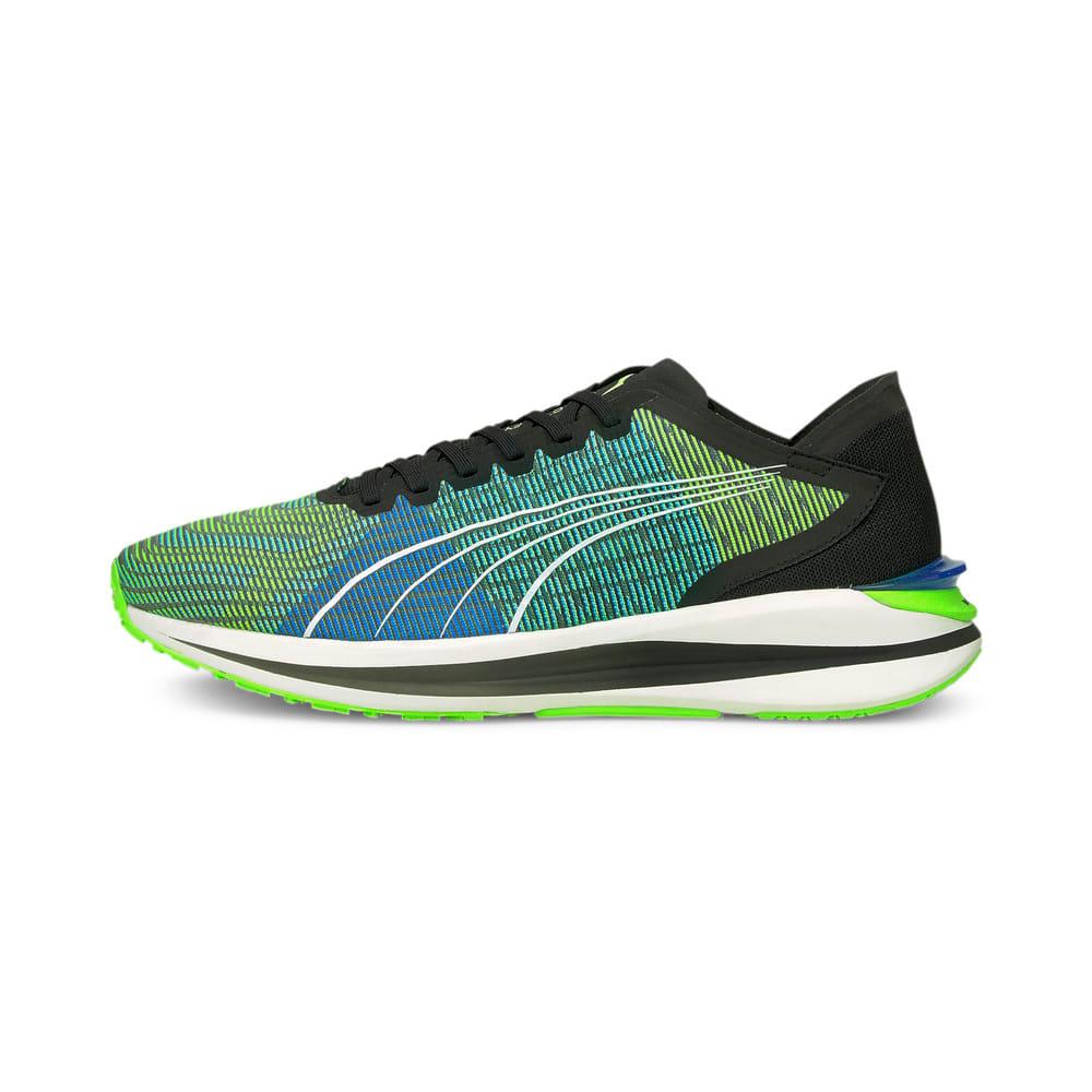 Изображение Puma Кроссовки Electrify Nitro Men's Running Shoes #1: Puma Black-Ultra Blue-Green Glare