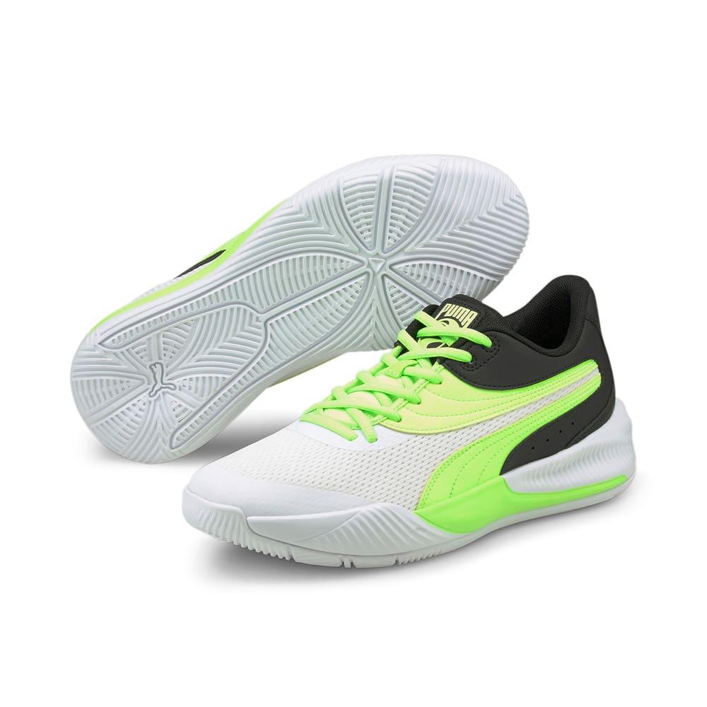Изображение Puma Кроссовки Triple Basketball Shoes #2: Puma White-Green Glare