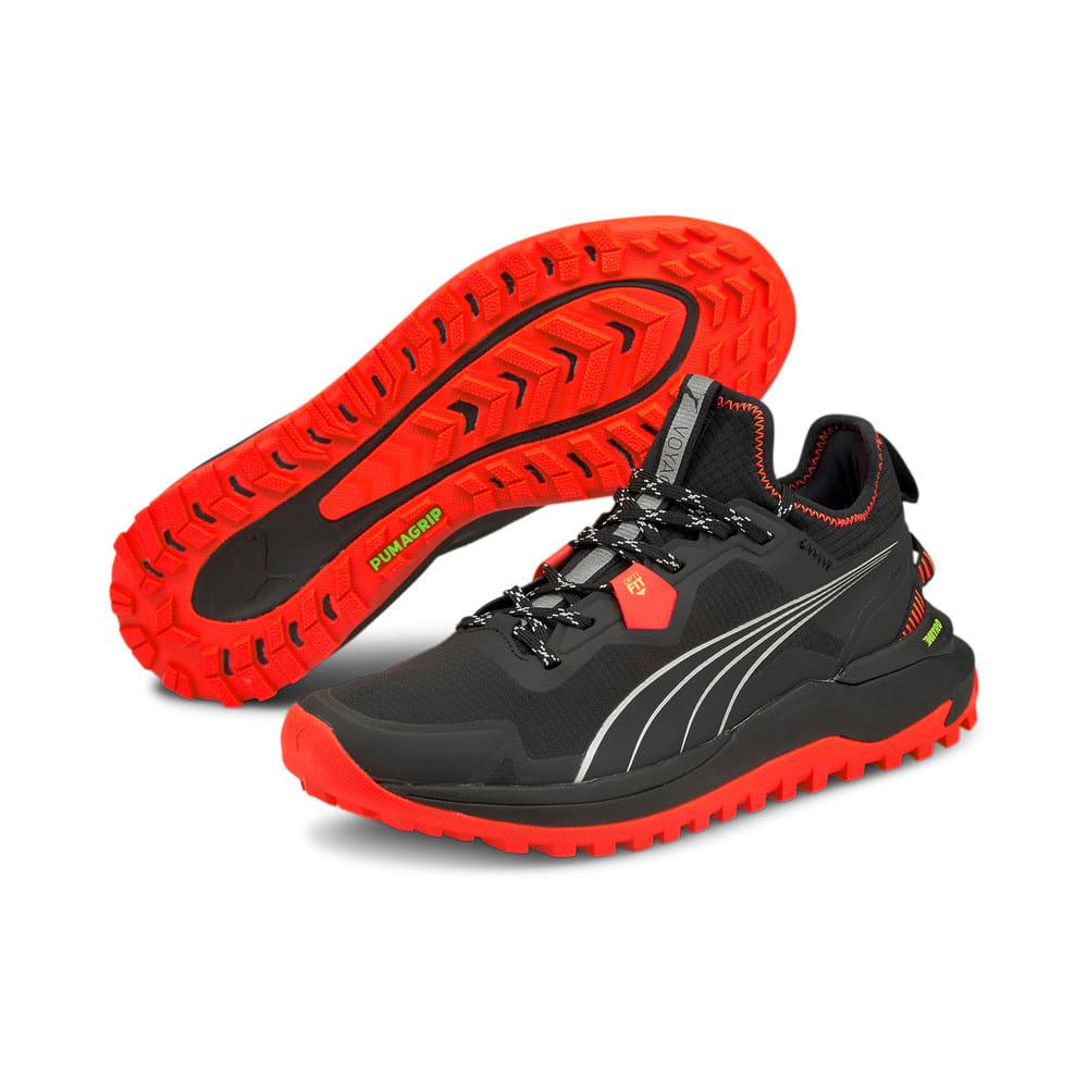 Зображення Puma Кросівки Voyage Nitro Men's Running Shoes #2: Puma Black-Lava Blast-Metallic Silver