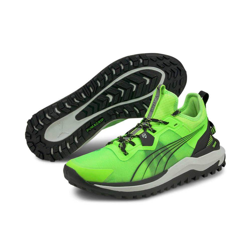 Изображение Puma Кроссовки Voyage Nitro Men's Running Shoes #2: Green Glare-Puma Black
