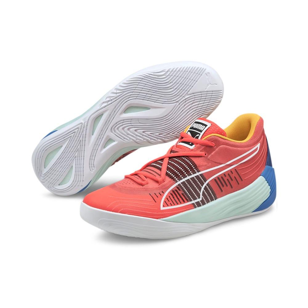 Зображення Puma Кросівки Fusion Nitro Basketball Shoes #2: Sunblaze-Bluemazing