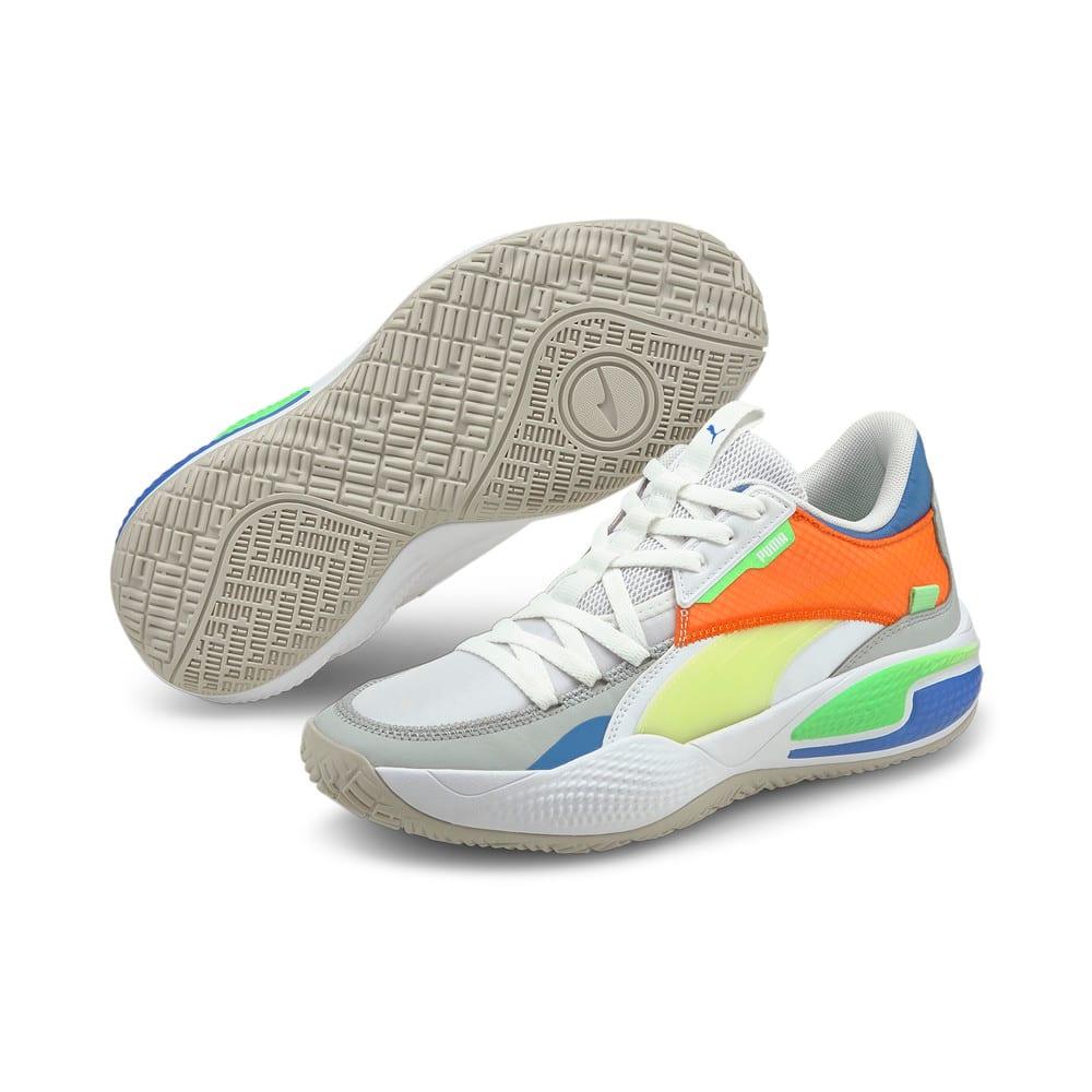 Изображение Puma Кроссовки Court Rider Twofold Basketball Shoes #2: Puma White-Palace Blue