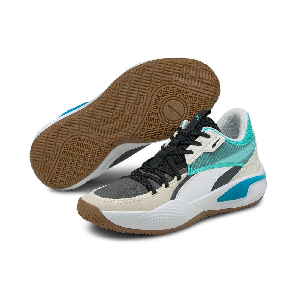 Изображение Puma Кроссовки Court Rider Summer Days Basketball Shoes #2: Ebony-Elektro Aqua