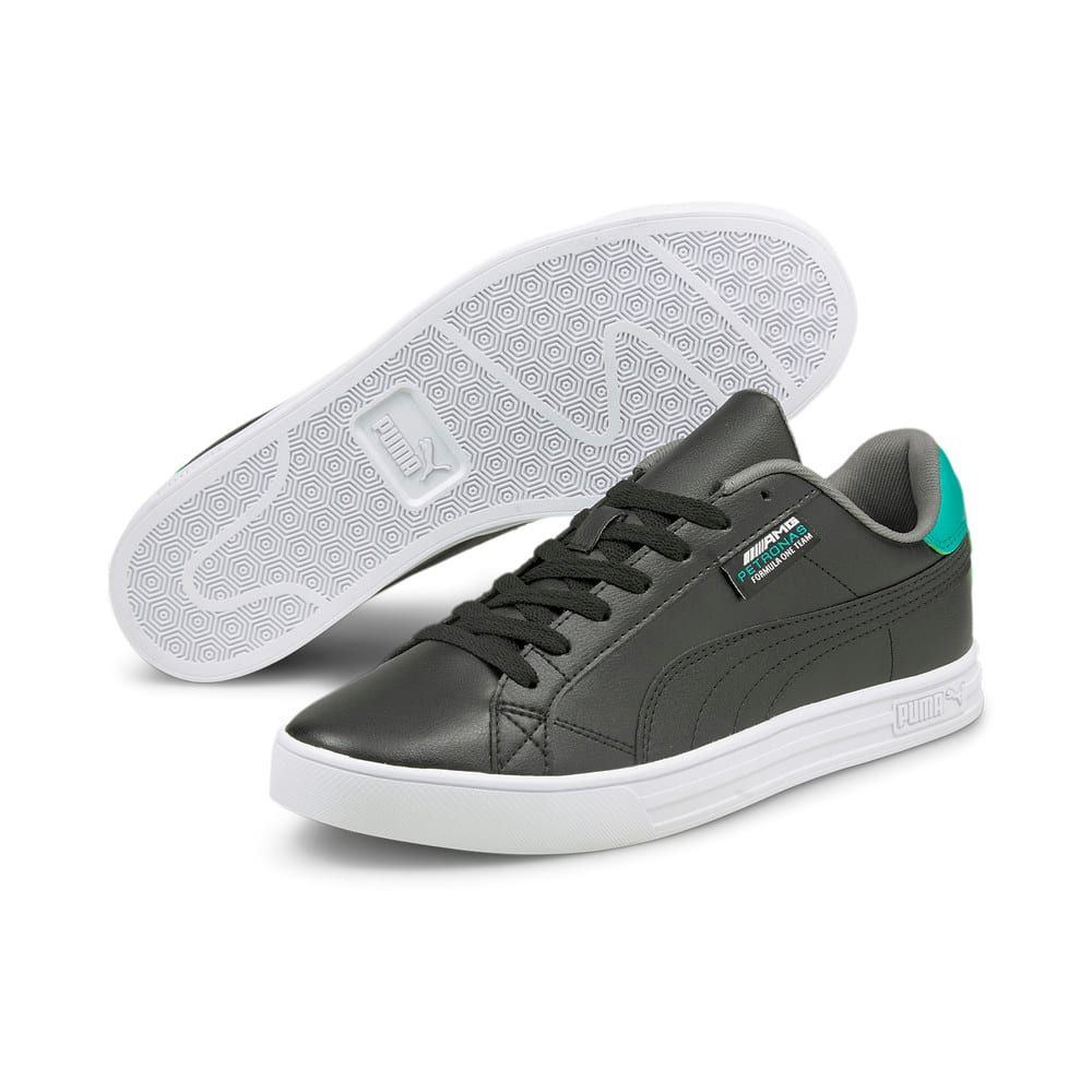 Зображення Puma Кеди Mercedes F1 Smash Vulcanised V3 Motorsport Shoes #2: Puma Black-Puma White-Spectra Green