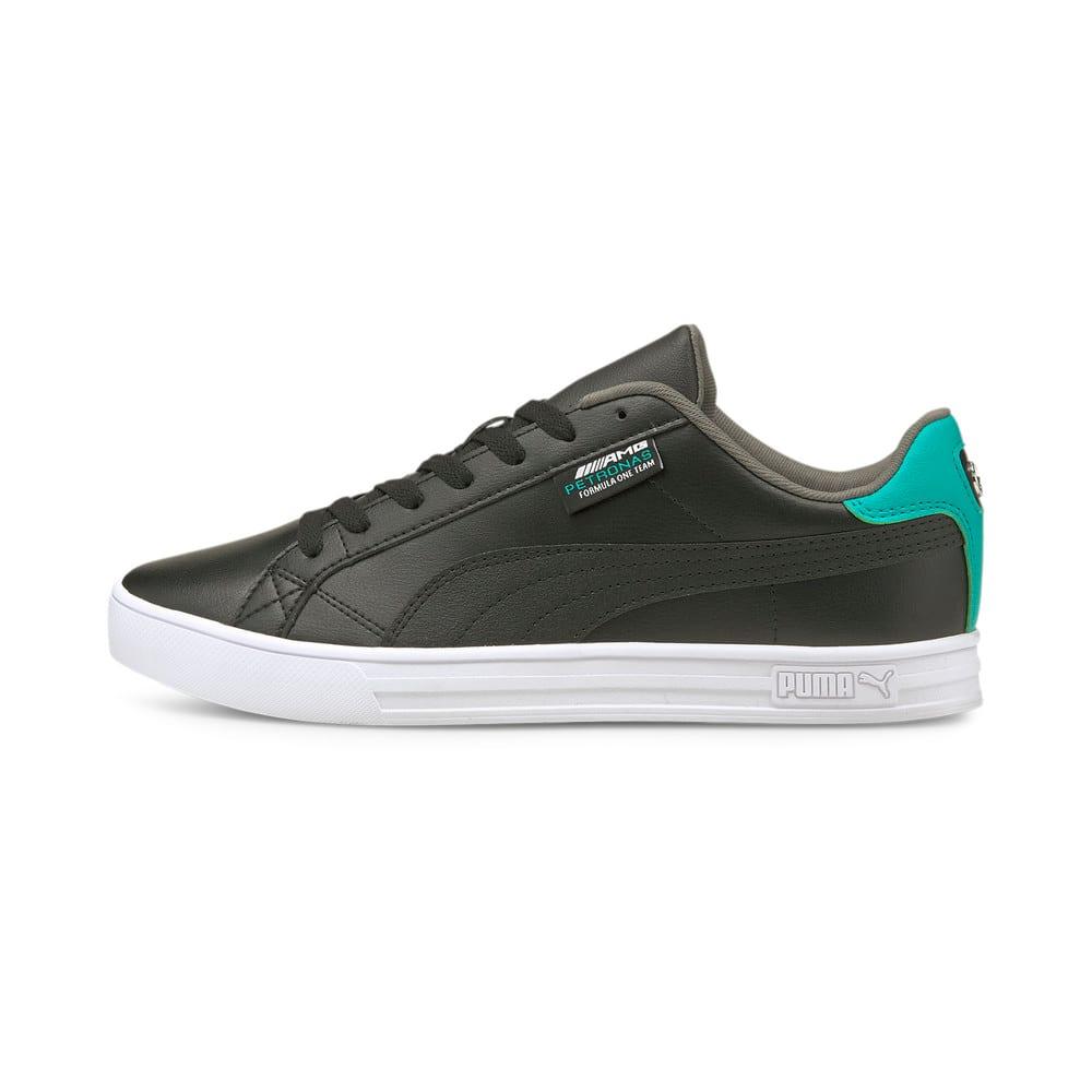 Зображення Puma Кеди Mercedes F1 Smash Vulcanised V3 Motorsport Shoes #1: Puma Black-Puma White-Spectra Green