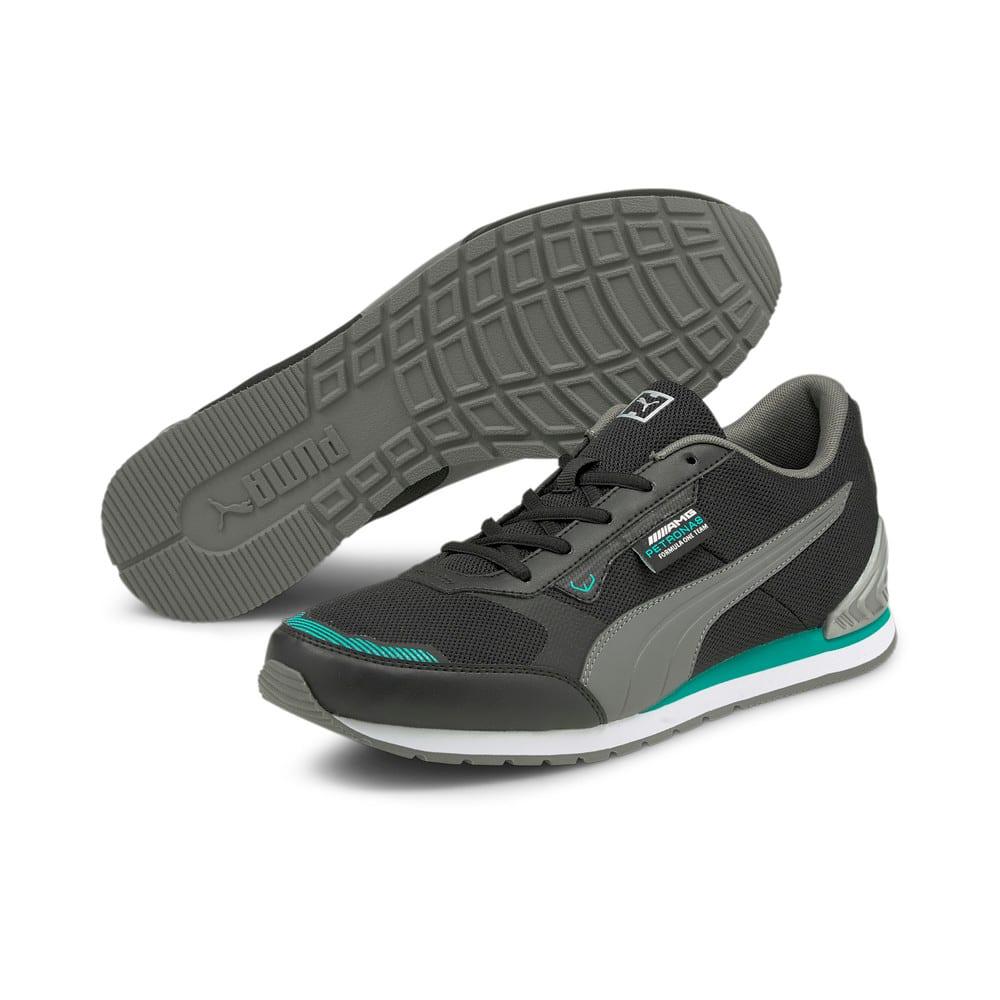 Изображение Puma Кроссовки Mercedes F1 Track Racer Motorsport Shoes #2: Puma Black-Smoked Pearl-Spectra Green