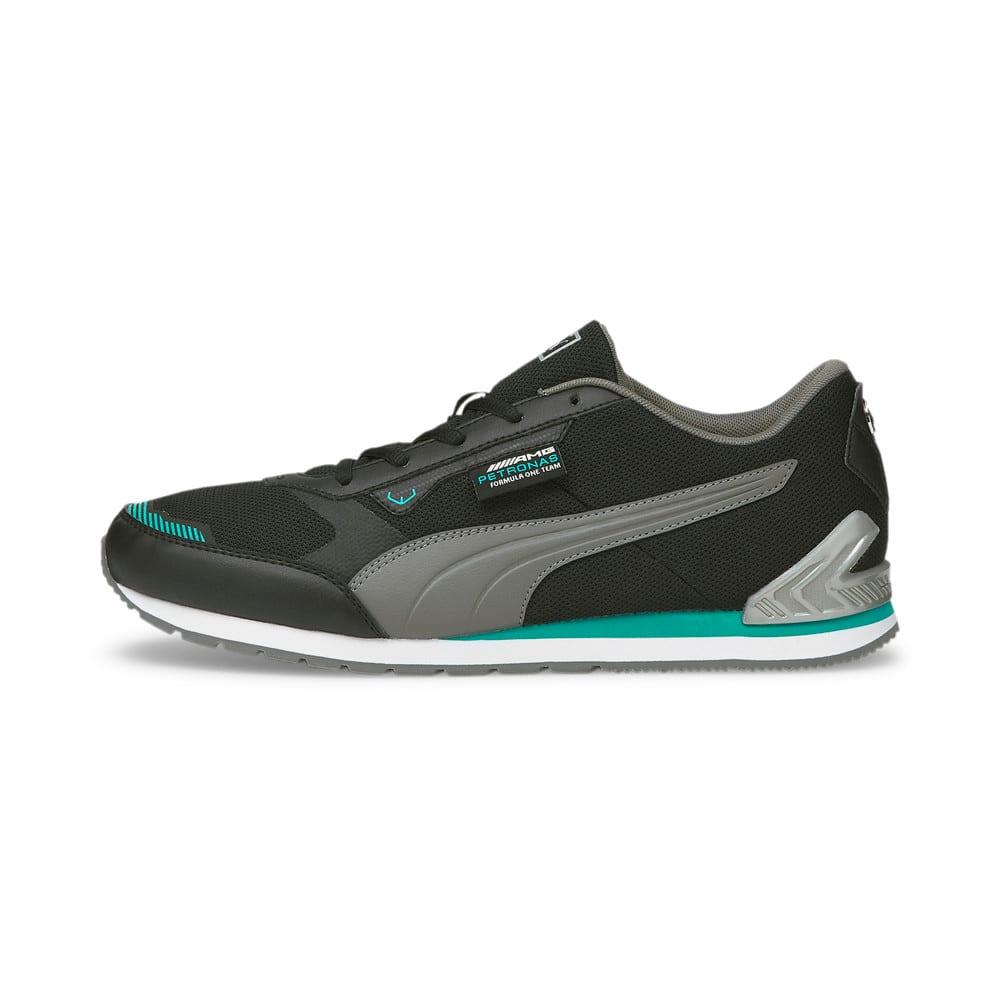 Изображение Puma Кроссовки Mercedes F1 Track Racer Motorsport Shoes #1: Puma Black-Smoked Pearl-Spectra Green