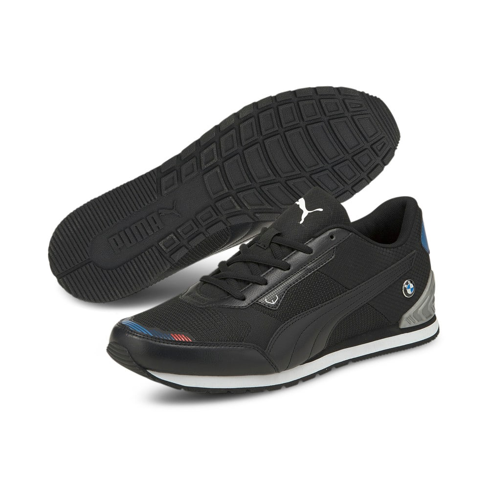 Изображение Puma Кроссовки BMW M Motorsport Track Racer Motorsport Shoes #2: Puma Black-Puma Silver