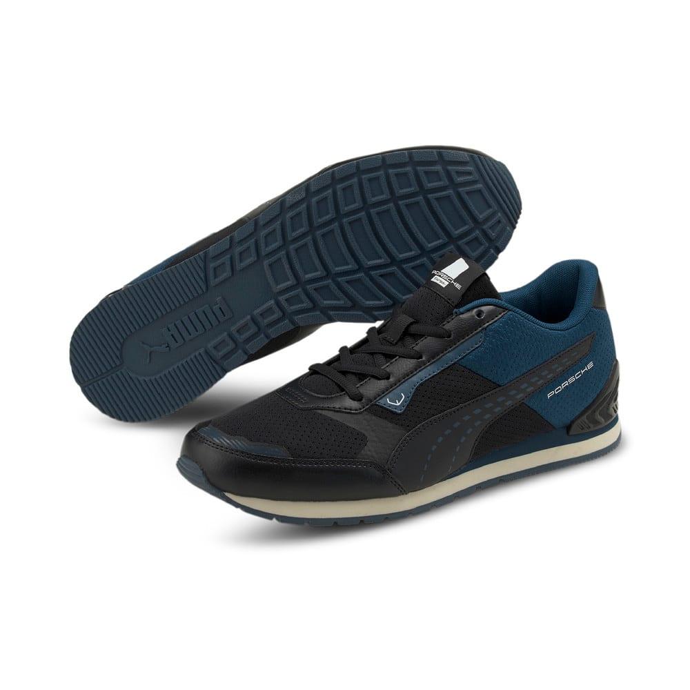 Изображение Puma Кроссовки Porsche Legacy Track Racer Motorsport Shoes #2: Puma Black-Intense Blue