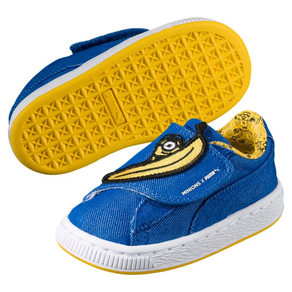Görüntü Puma MINIONS Basket Wrap Statement Denim Çocuk Ayakkabı #2