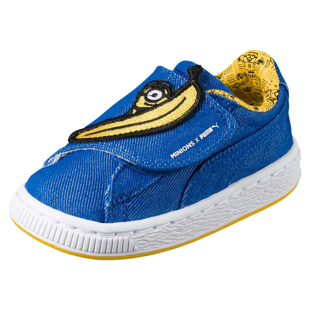 Görüntü Puma MINIONS Basket Wrap Statement Denim Çocuk Ayakkabı #1