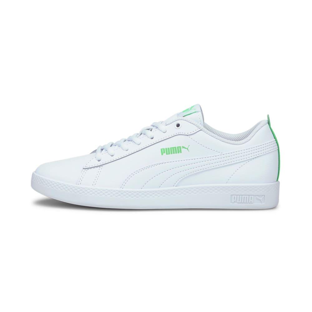 Зображення Puma Кеди PUMA Smash Wns v2 L #1: Puma White-Puma White-Summer Green